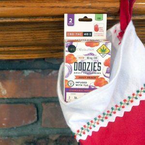 doozies vegan cannabis gummy 2 pack stocking stuffer